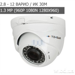 Видеокамера AHD купольная Tecsar AHDD-1Mp-30Vfl-out (HD 960P)