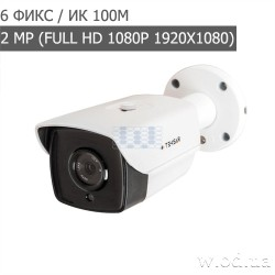 Видеокамера AHD уличная Tecsar AHDW-100F2M-light (Full HD 1080P)