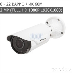 Видеокамера AHD уличная Tecsar AHDW-60V2M 6-22 mm (Full HD 1080P)