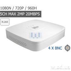 Smart 1U Penta-brid 720P видеорегистратор Dahua DH-XVR4104C-X 4 канальный