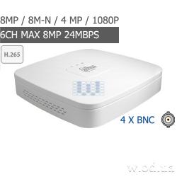 Smart 1U Penta-brid 4K видеорегистратор Dahua DH-XVR5104C-4KL-X 4 канальный