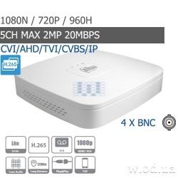 Smart 1U Penta-brid 720P видеорегистратор Dahua DHI-XVR4104C-X1 4 канальный