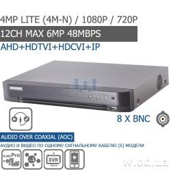 Гибридный Turbo HD 1U DVR видеорегистратор Hikvision DS-7208HQHI-K1 8 канальный