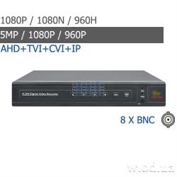 Гибридный видеорегистратор AHD Partizan 1.3MP/AHD-N для 8 камер CHD-68EVH HD 5.0