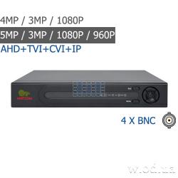 Гибридный видеорегистратор AHD Partizan 4.0MP для 4 камер ADF-14S SuperHD 4.2