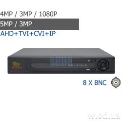 Гибридный видеорегистратор AHD Partizan 4.0MP для 8 камер ADH-18V SuperHD 4.2