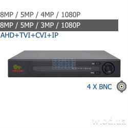 Гибридный видеорегистратор AHD Partizan 8.0MP для 4 камер ADF-14S SuperHD 4.3