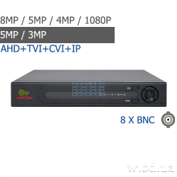 Видеорегистратор AHD Partizan 8.0MP для 8 камер ADH-18V SuperHD 4.3