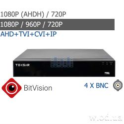 Гибридный видеорегистратор AHD Tecsar B4CH4AB-HD 4 канальный