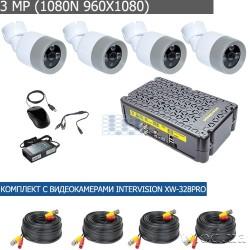 Комплект видеонаблюдения на 4 камеры interVision KIT-3MP-4CC PRO W-COAX-PC