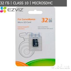 Карта памяти EZviz microSDHC 32GB Class 10 UHS-I For Surveillance для видеонаблюдения