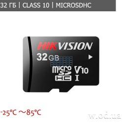Карта памяти Hikvision HS-TF-P1/32G microSDHC 32GB Class 10 For Surveillance для видеонаблюдения