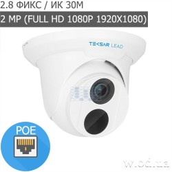 IP-видеокамера купольная Tecsar Lead IPD-L-2M30F-SF-poe-in (Full HD 1080P)