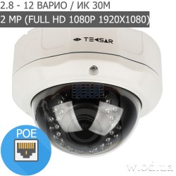 Купольная IP-видеокамера Tecsar IPD-M20-V30-poe (Full HD 1080P)