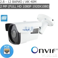 Уличная IP-видеокамера Tecsar Beta IPW-2M40V-poe (Full HD 1080P)