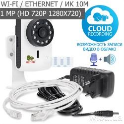 Миниатюрная IP-видеокамера Partizan Cloud Cubic IPC-1SP-IR EC 1.0 (HD 720P, Wi-Fi)
