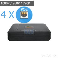 IP-видеорегистратор Partizan 2.0MP для 4 камер NVD-411 POE 1.0