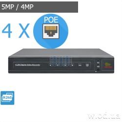 IP-видеорегистратор Partizan 5.0MP для 4 камер NVD-411 POE 2.0