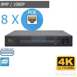 IP-видеорегистратор Partizan 8.0MP (4K) для 8 камер NVH-852 POE