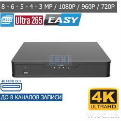 Сетевой видеорегистратор IP NVR Uniview NVR301-08S 8 канальный