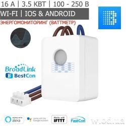 Умный Wi-Fi переключатель (реле) BroadLink BestCon SCB1E с ваттметром (энергомониторингом)